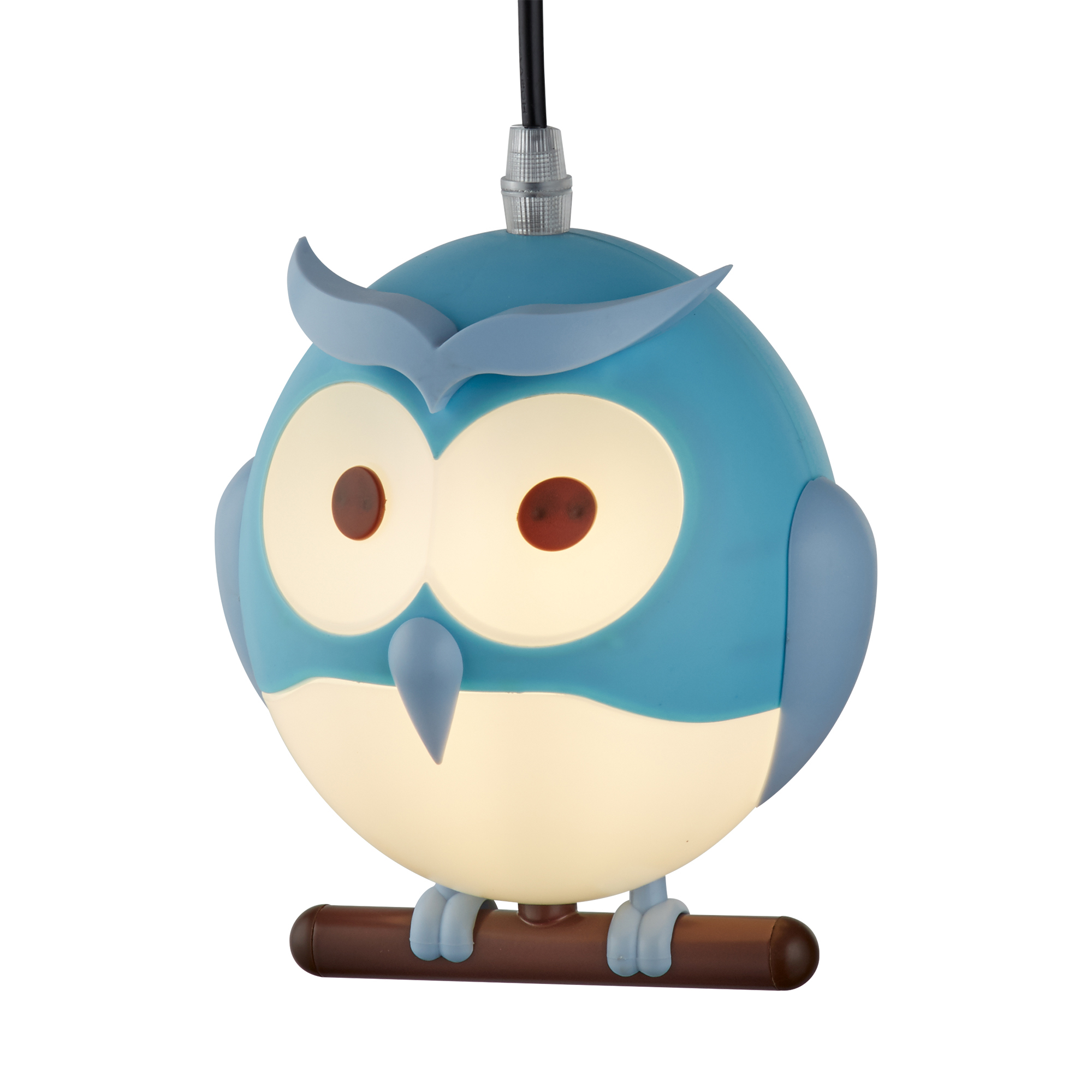 novelty pendant owl product blue childrens