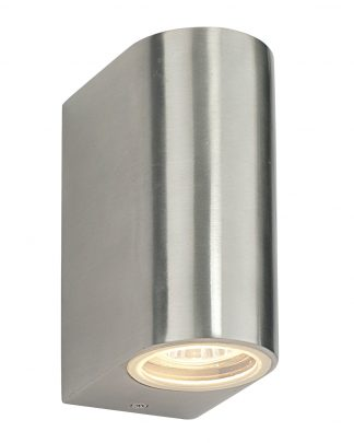 Saxby Endon Lighting EL-40063 Canon PIR 1 Light Wall IP44 35W Stainless Steel