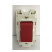 Crabtree 4460/RD 20Amp Double Pole Switch Red Rocker