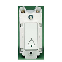 Crabtree 4490 10A Retractive switch with bell symbol